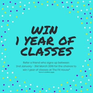 Win a year of classes!